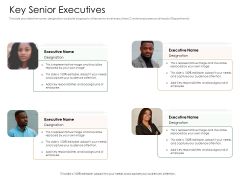 Substitute Financing Pitch Deck Key Senior Executives Introduction PDF