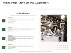 Substitute Financing Pitch Deck Major Pain Points Of The Customers Guidelines PDF