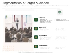 Substitute Financing Pitch Deck Segmentation Of Target Audience Inspiration PDF