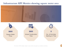 Substructure Segment Analysis Infrastructure KPI Metrics Showing Square Meter Area Diagrams PDF