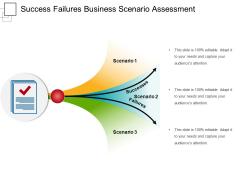 Success Failures Business Scenario Assessment Ppt PowerPoint Presentation Outline Visuals PDF