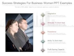 Success Strategies For Business Women Ppt Examples