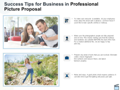 Success Tips For Business In Professional Picture Proposal Ppt Styles Brochure PDF