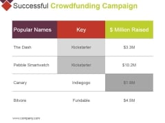 Successful Crowdfunding Campaign Ppt PowerPoint Presentation Model Guidelines