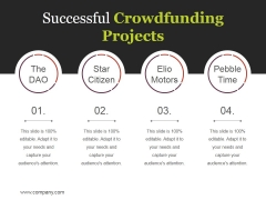 Successful Crowdfunding Projects Ppt PowerPoint Presentation Layouts Smartart