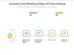 Successful Email Marketing Strategy Half Yearly Roadmap Elements