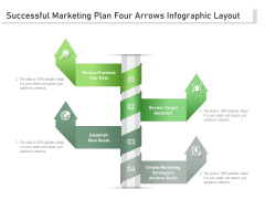 Successful Marketing Plan Four Arrows Infographic Layout Ppt PowerPoint Presentation File Designs PDF