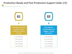 Successful Mobile Strategies For Business Production Ready And Post Production Support Defects Infographics PDF