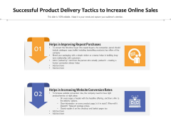 Successful Product Delivery Tactics To Increase Online Sales Ppt PowerPoint Presentation Gallery Gridlines PDF