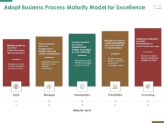 Successful Strategy Implementation Organization Adopt Business Process Maturity Model For Excellence Designs PDF