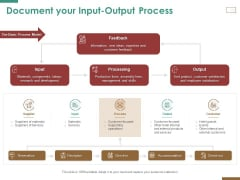 Successful Strategy Implementation Organization Document Your Input Output Process Elements PDF