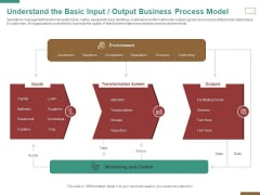 Successful Strategy Implementation Organization Understand The Basic Input Output Business Process Model Pictures PDF