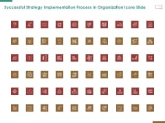 Successful Strategy Implementation Process In Organization Icons Slide Background PDF