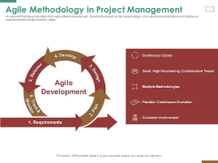 Successful Strategy Implementation Process Organization Agile Methodology In Project Management Rules PDF