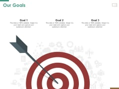 Successful Strategy Implementation Process Organization Our Goals Icons PDF
