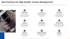 Successful Vendor Management Approaches To Boost Procurement Efficiency Best Practices For High Quality Demonstration PDF