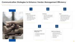 Successful Vendor Management Approaches To Boost Procurement Efficiency Communication Strategies Graphics PDF