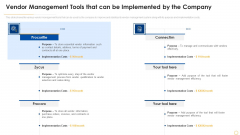 Successful Vendor Management Approaches To Boost Procurement Efficiency Vendor Management Tools Structure PDF