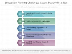 Succession Planning Challenges Layout Powerpoint Slides