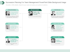 Succession Planning For Team Management Powerpoint Slide Background Image