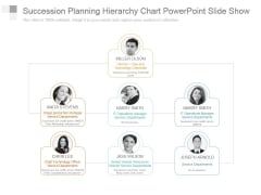 Succession Planning Hierarchy Chart Powerpoint Slide Show
