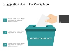 Suggestion Box In The Workplace Ppt Powerpoint Presentation Gallery Skills