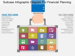 Suitcase Infographic Diagram For Financial Planning Powerpoint Template