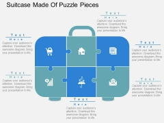 Suitcase Made Of Puzzle Pieces Powerpoint Templates