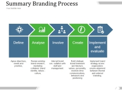 Summary Branding Process Ppt PowerPoint Presentation Infographic Template