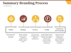 Summary Branding Process Ppt PowerPoint Presentation Picture