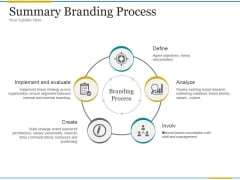 Summary Branding Process Ppt PowerPoint Presentation Portfolio