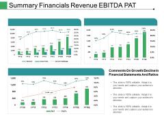 Summary Financials Revenue Ebitda Pat Ppt PowerPoint Presentation Ideas Tips