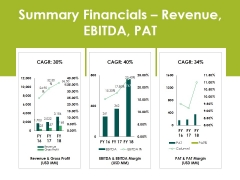 Summary Financials Revenue Ebitda Pat Ppt PowerPoint Presentation Infographics Ideas