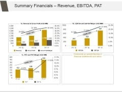 Summary Financials Revenue Ebitda Pat Ppt PowerPoint Presentation Layout