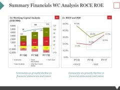 Summary Financials Wc Analysis Roce Roe Ppt PowerPoint Presentation Show Inspiration