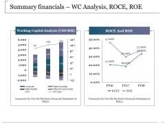 Summary Financials Wc Analysis Roce Roe Ppt PowerPoint Presentation Summary Picture