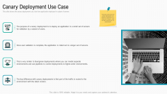 Summary Implementation Strategies Canary Deployment Use Case Ppt Slides Inspiration PDF