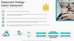 Summary Implementation Strategies Deployment Strategy Canary Deployment Clipart PDF