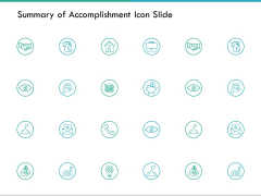 Summary Of Accomplishment Icon Slide Vision Ppt PowerPoint Presentation Outline Deck