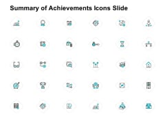 Summary Of Achievements Icons Slide Calculator Ppt PowerPoint Presentation Outline Graphics Tutorials