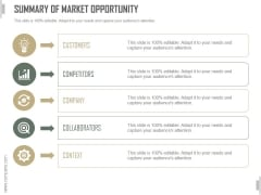 Summary Of Market Opportunity Ppt PowerPoint Presentation Deck