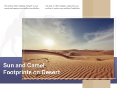 Sun And Camel Footprints On Desert Ppt PowerPoint Presentation Pictures Structure PDF