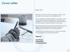 Sun Energy Dealing Cover Letter Ppt Pictures Gallery PDF