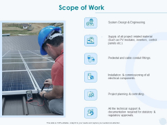 Sun Energy Dealing Scope Of Work Ppt Layouts Visuals PDF
