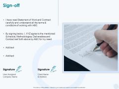 Sun Energy Dealing Sign Off Ppt Portfolio Example Introduction PDF