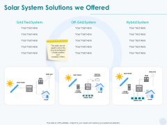 Sun Energy Dealing Solar System Solutions We Offered Ppt Model Templates PDF