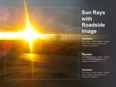 Sun Rays With Roadside Image Ppt Powerpoint Presentation Icon Templates