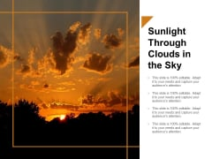 Sunlight Through Clouds In The Sky Ppt PowerPoint Presentation Gallery Graphics Download