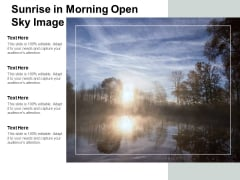 Sunrise In Morning Open Sky Image Ppt Powerpoint Presentation Pictures Topics