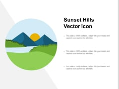 Sunset Hills Vector Icon Ppt PowerPoint Presentation Ideas Professional